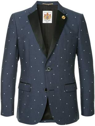 Education From Youngmachines stars embroidered blazer