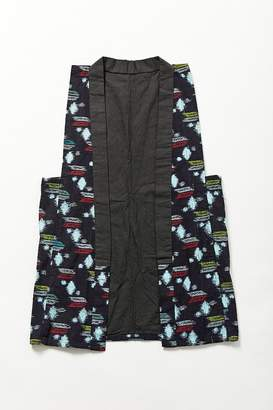 Urban Renewal Vintage Blue Geometric Vest