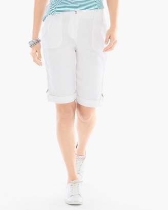 Chico's Casual Utility Shorts in Alabaster