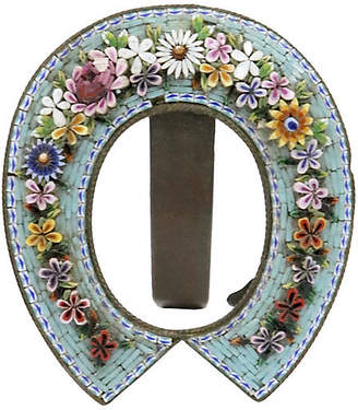 One Kings Lane Vintage Antique Micro-Mosaic Picture Frame - Rose Victoria