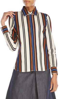 pink tartan Stripe Blouse $295 thestylecure.com