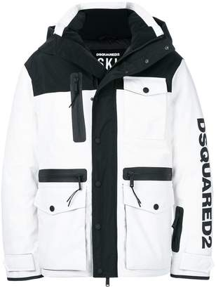 DSQUARED2 Ski logo padded jacket