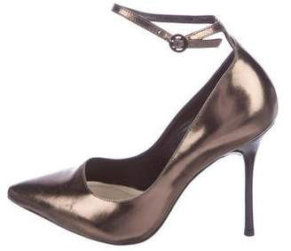 Alice + Olivia Metallic Ankle-Strap Pumps