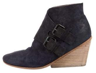 Marsèll Suede Wedge Booties