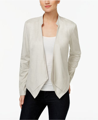 INC International Concepts Draped Faux-Suede Jacket, Only at Macy's $119.50 thestylecure.com