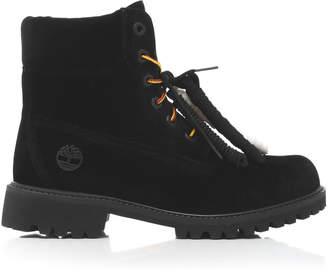 Off-White Timberland Velvet Boots