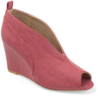 Journee Collection Calista Womens Pumps Slip-on Peep Toe Wedge Heel