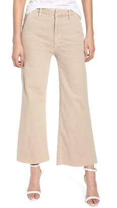 Mother The Roller Fray Crop Wide Leg Jeans