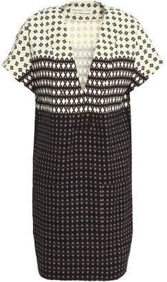Etro Printed Stretch-Wool Crepe Mini Dress