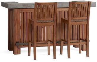 Pottery Barn Abbott Ultimate Bar & Abbott Bar Stool Set