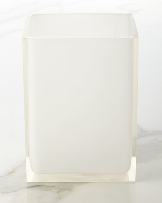 Jonathan Adler White Hollywood Trash Bin
