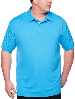 PGA Tour TOUR Easy Care Short Sleeve Jacquard Doubleknit Polo Shirt Big and Tall
