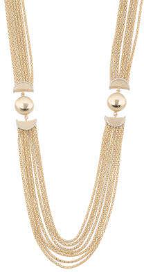 Made In Italy 14k Gold 2 Tone Multi Row Necklace