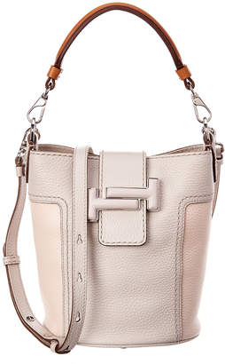 Tod's Double T Mini Leather Bucket Bag