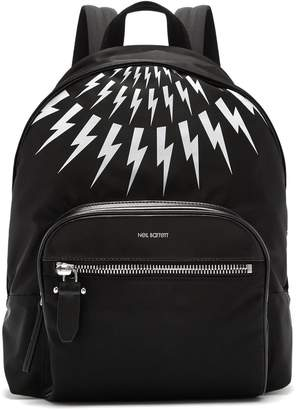 Neil Barrett Fairisle lightning-bolt nylon backpack