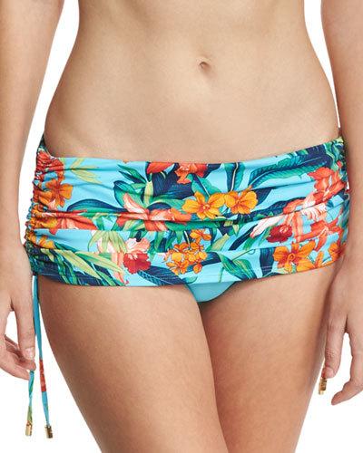 Tommy Bahama Tropical-Print Skirted Swim Bottom w/ Drawstrings