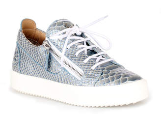 Giuseppe Zanotti Gail light blue embossed sneakers
