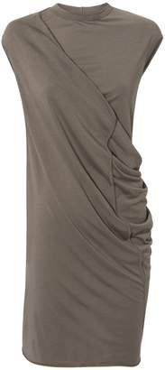 Rick Owens Lilies Gathered Tunic Dress