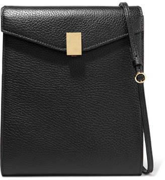 Victoria Beckham Postino Textured-leather Shoulder Bag - Black