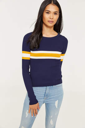 Ardene Rib-knit Striped Sweater