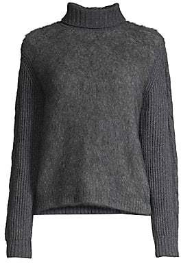 Max Mara Women's Formia Mohair Cable-Knit Back Turtleneck