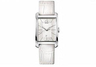 CK Calvin Klein (CK カルバン クライン) - Calvin Klein CL-K2M23120 シルバー×ホワイト Window(ウィンドウ) [クォーツ腕時計(レディースウオッチ)]
