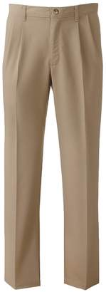 Lee Big & Tall Total Freedom Classic-Fit Stain-Resist Pleated Pants