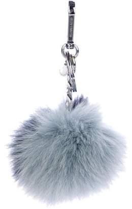 Michael Kors Fox Pom-Pom Keychain