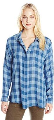 Buffalo David Bitton Women's Tralen Indigo Long Sleeve Button Down Shirt $29.90 thestylecure.com