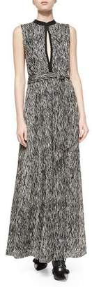 Alice + Olivia Ramon Mock-Neck Knot-Waist Dress $485 thestylecure.com