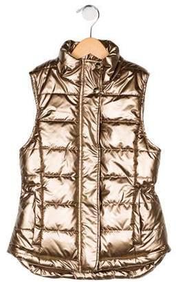 Imoga Girls' Metallic Puffer Vest w/ Tags