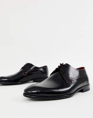 HUGO Dress App derby leather shoes in black