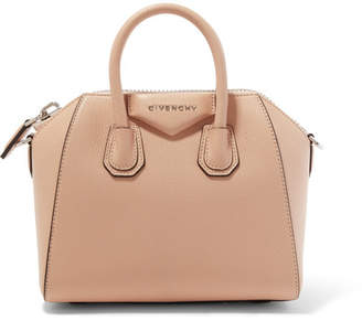 Givenchy Antigona Mini Textured-leather Tote - Neutral