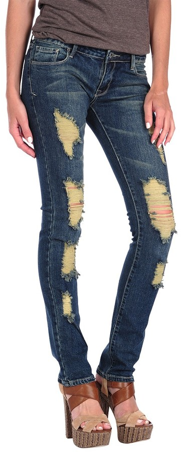 Butter Shoes Medium Wash Ripped Skinny