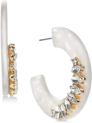 "INC International Concepts I.n.c. Medium White Resin Casted Hoop Earrings, 1.5"""