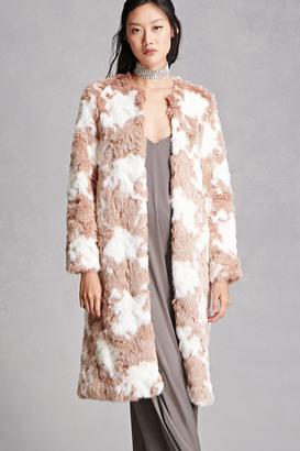 FOREVER 21+ Longline Faux Fur Coat $78 thestylecure.com