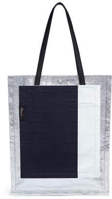 3.1 Phillip Lim 'Accordion Shopper' colourblock double compartment leather tote
