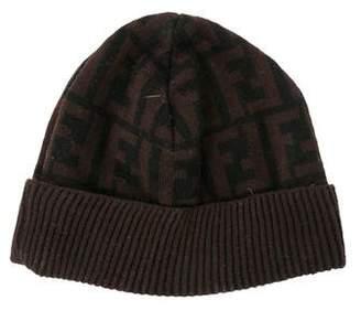 Fendi Zucca FF Logo Wool Beanie