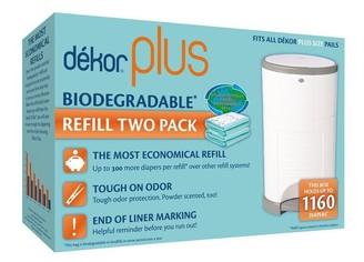 Dekor Diaper Disposal Bin Refill Bag Plus 2-Pack