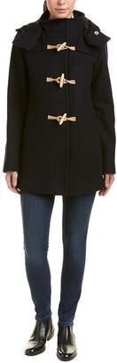 Cole Haan Fidelity Duffle Wool-Blend Coat