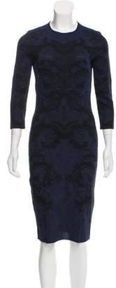 Alexander McQueen Ikat Sheath Dress