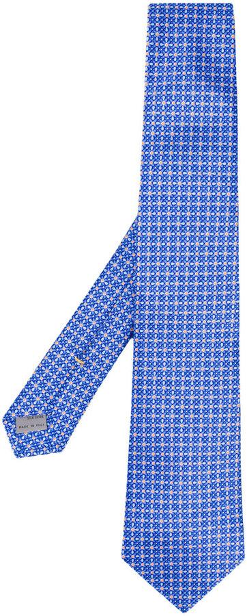 CanaliCanali geometric flower tie