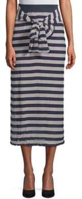 Moon River Striped Long Skirt