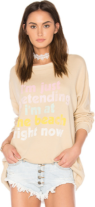 Wildfox Couture Play Pretend Top in Beige $108 thestylecure.com
