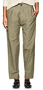 Officine Generale Women's Saskia Cotton Drop-Rise Trousers - Green