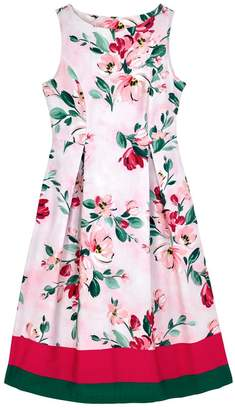 Cath Kidston Womens Pink Paintbox Flowers Cotton Sateen Dress - Pink