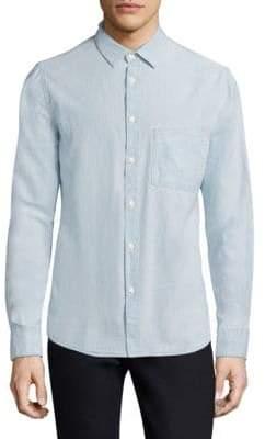 Nudie Jeans Stanley Denim Button-Down Shirt