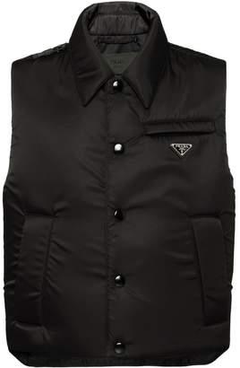 Prada padded nylon gabardine vest