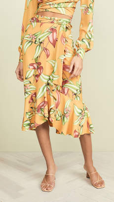 PatBO Zebrina Print Wrap Skirt