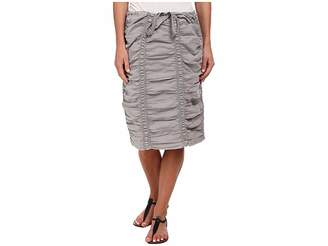 XCVI Double Shirred Panel Knee Length Skirt